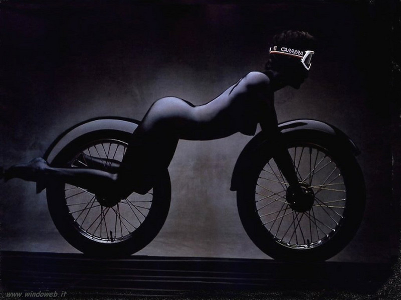 """(variation on previous image!)Still not a GS but a cool image! :-) Puts a new perspective on the term """"biker girl"""" LOL"""