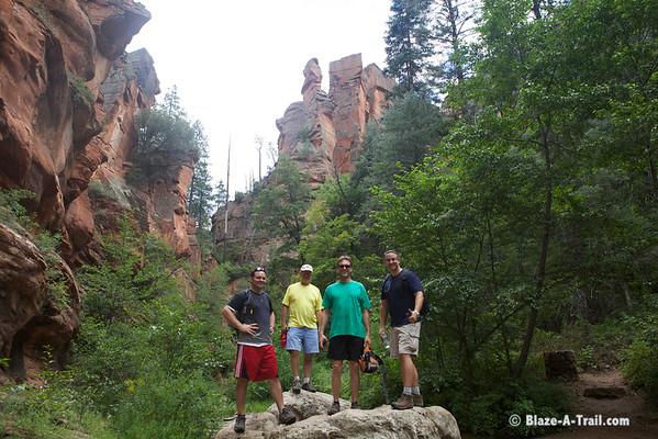 "West Fork Trail (Sedona, AZ) -- ""THRIVE - An Adventure For Men"" Retreat (August 2013)"