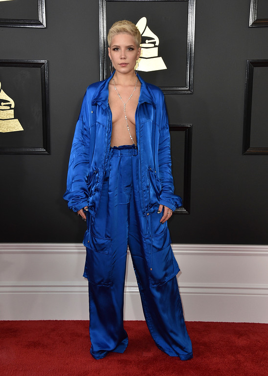 . Halsey arrives at the 59th annual Grammy Awards at the Staples Center on Sunday, Feb. 12, 2017, in Los Angeles. (Photo by Jordan Strauss/Invision/AP)