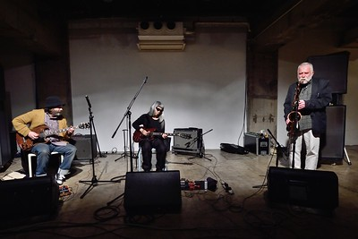 Peter Brötzmann with Strings, Peter Brötzmann ,sax, clarinet, Jim O'Rourke,guitar,Keiji Haino,guitar, at SuperDeluxe