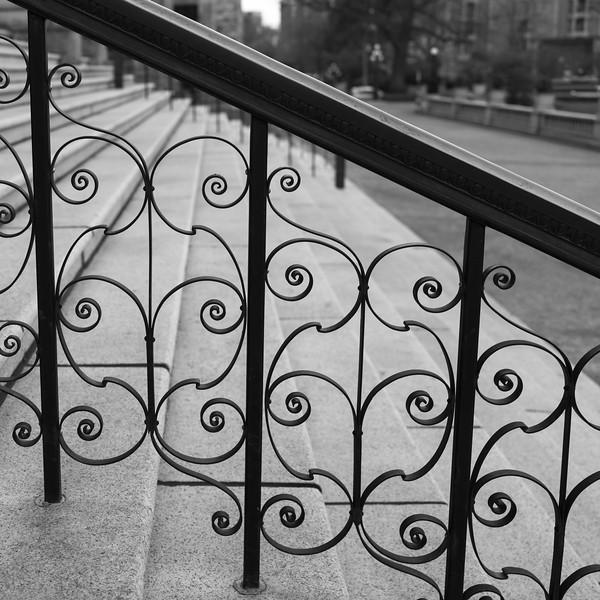 Railing at the entrance of Victoria Legislature Building, Victoria, British Columbia, Canada