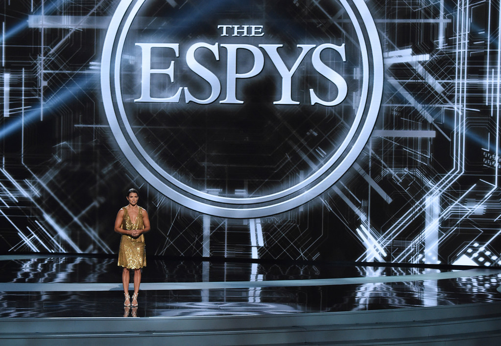 . Host Danica Patrick appears at the ESPY Awards at Microsoft Theater on Wednesday, July 18, 2018, in Los Angeles. (Photo by Phil McCarten/Invision/AP)