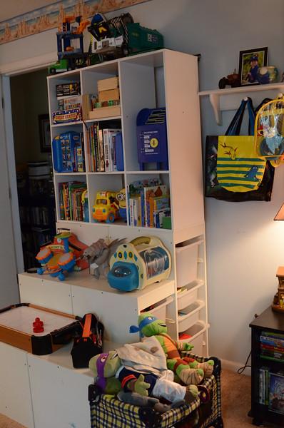 Nice, neat toy shelf
