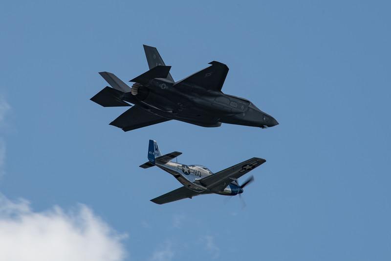 F-35 Lightning / P-51 Mustang Heritage Flight