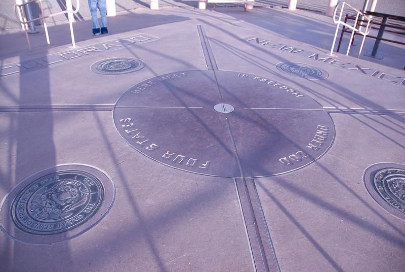 Four corners region representing Colorado, New Mexico, Utah and Arizona
