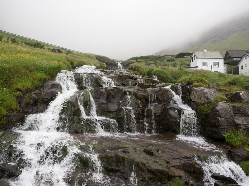 A lovely waterfall in the village.