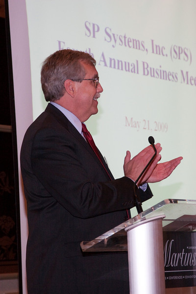 Jack Larsen congratulates SPS new citizens -- SP Systems, Inc Fourth Annual Business Meeting & Luncheon, Greenbelt, MD