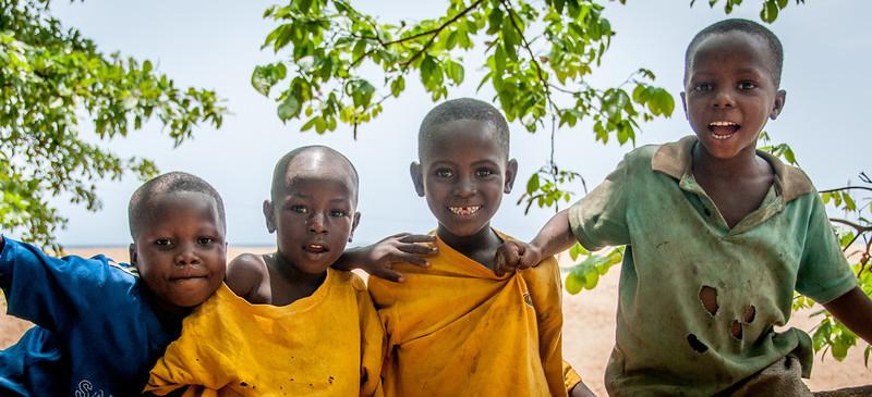 Local kids in Freetown, Sierra Leone