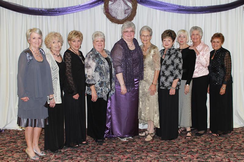Zeta Chi - Wynell Goldman, Verna Mathis, Shelby Church, Linda Weadock, Ann Southall, Ann Becker, Kathy Nichols, Sherry Miller, Susan McFerrin, and Roberta Hatcher
