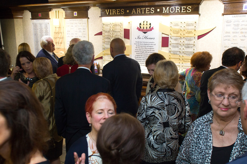 Dedication of the Vires Artes Mores Wall.