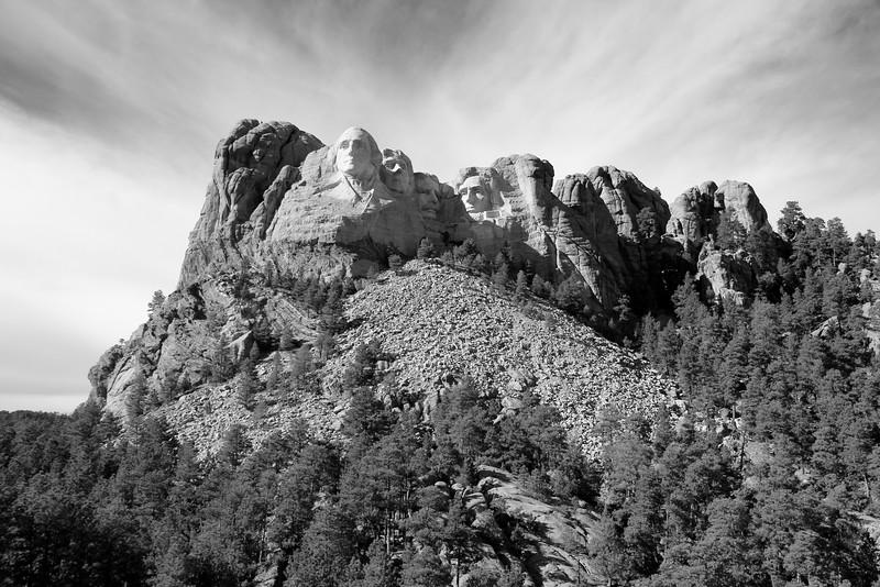 Mt. Rushmore Dramatic Sky BW.jpg