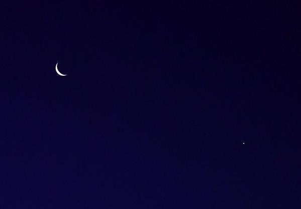 Moon and Venus over Berri