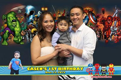 Casen's 1st Birthday (Green Screen Party Portraits)