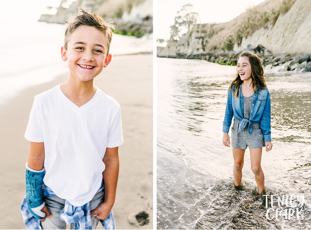 Lifestyle family mini session at Capitola Beach by Tenley Clark Photography.