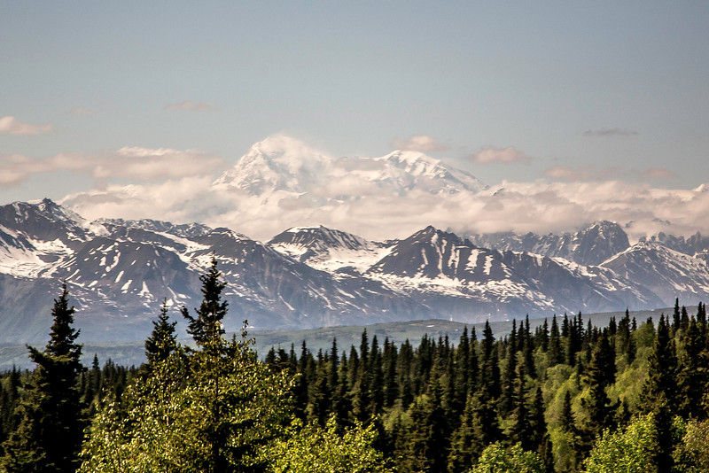 Mt. McKinley, from north of Talkeetna, Alaska, May 28, 2015