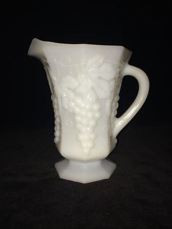 anchor hocking milk glass pitcher