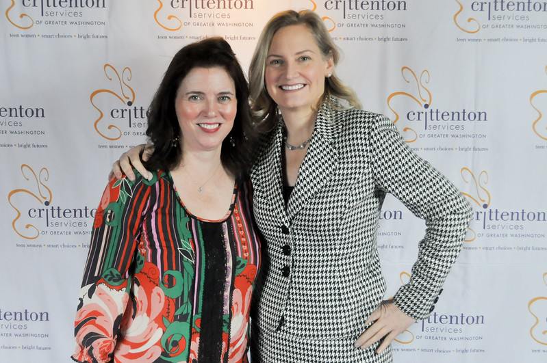 Siobhán O'Riordan with Ruth Swanson, Crittenton Board Member, Chief Development Officer, The SEED Foundation.