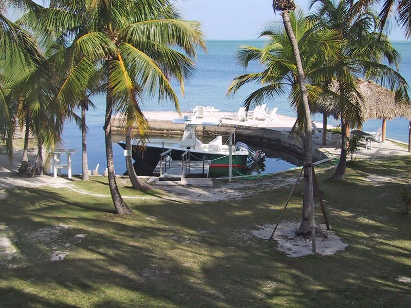 View From the patio with the boat added