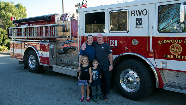 Christmas Day at Julie's Fire Station in Redwood City