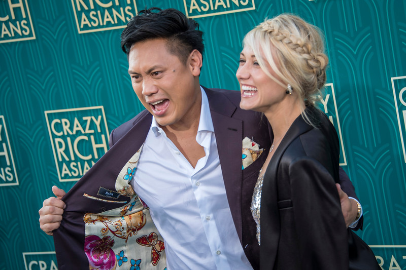 HOLLYWOOD, CA - AUGUST 07: Jon M. Chu and Kristen Hodge arrive at Warner Bros. Pictures' 'Crazy Rich Asians' Premiere at TCL Chinese Theatre IMAX on Tuesday, August 7, 2018 in Hollywood, California. (Photo by Tom Sorensen/Moovieboy Pictures)