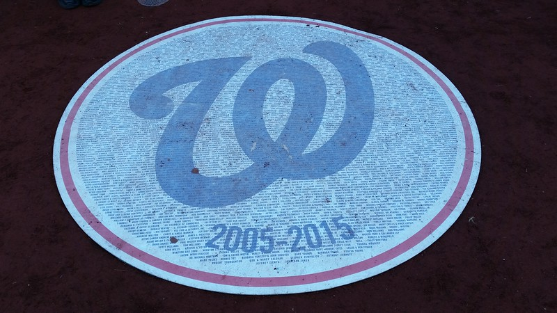 The on-deck circle, listing the names of the Nationals 10-year season planholders