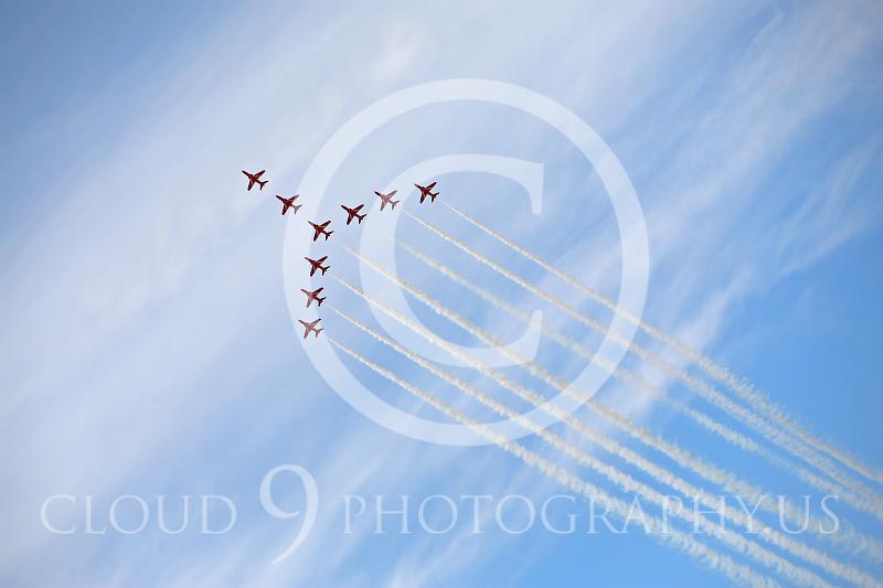 Red Arrows 00014 British RAF Red Arrows by Peter J Mancus.JPG
