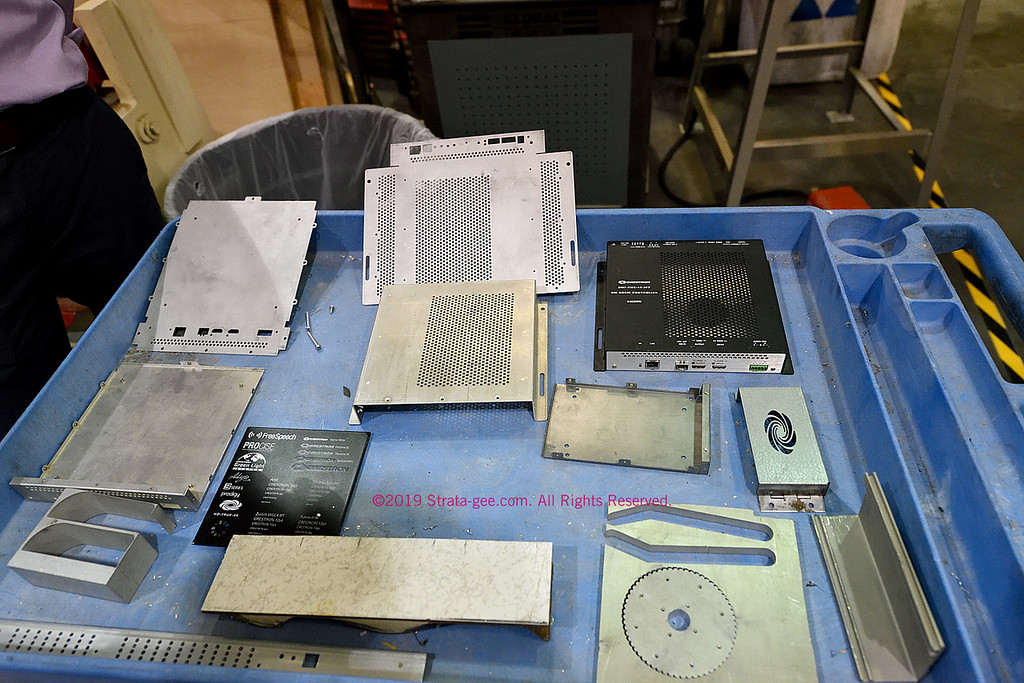 Samples of work from the Crestron machine shop