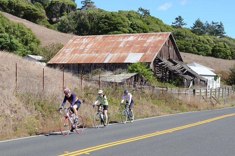 Andre, Ellen, Kathy (just past Duncans Mills)