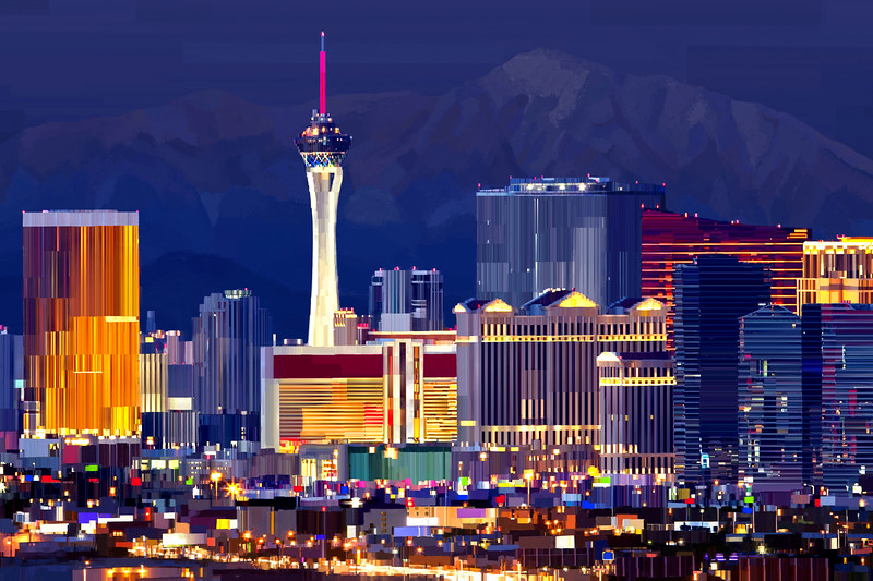 Las Vegas, NV Digital Painting