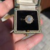 1.97ctw Antique Cluster Ring, GIA G SI2 36