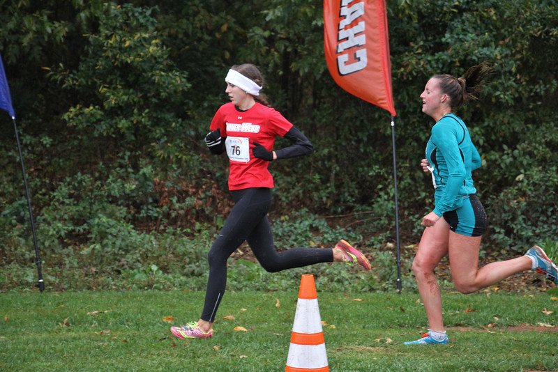 Claire Cates runs in the Big South Championship