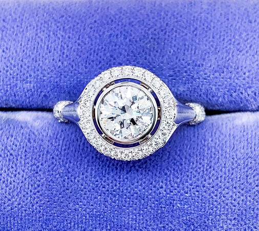 "The ""Camellia"" Halo - Featuring a 0.96ct Round Brilliant Diamond"