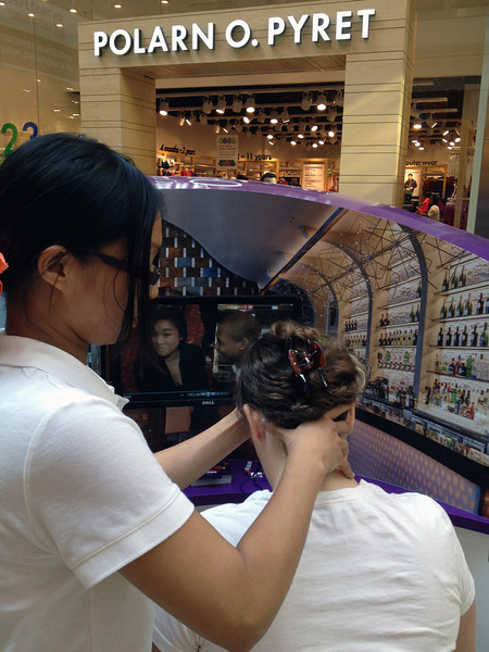 Massage and tv at Westfield Mall, beside Olympic Park. 5.5 million visited the mall during the Games