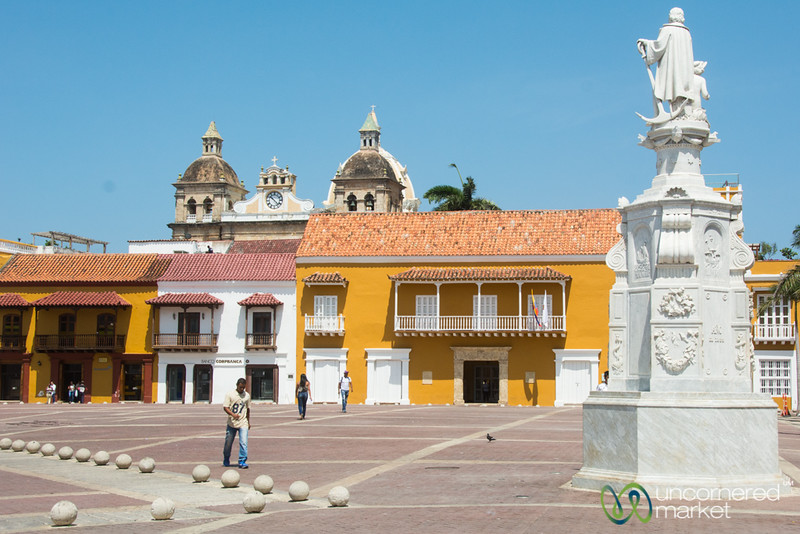 Plaza de la Aduana During the Day - Cartagena, Colombia