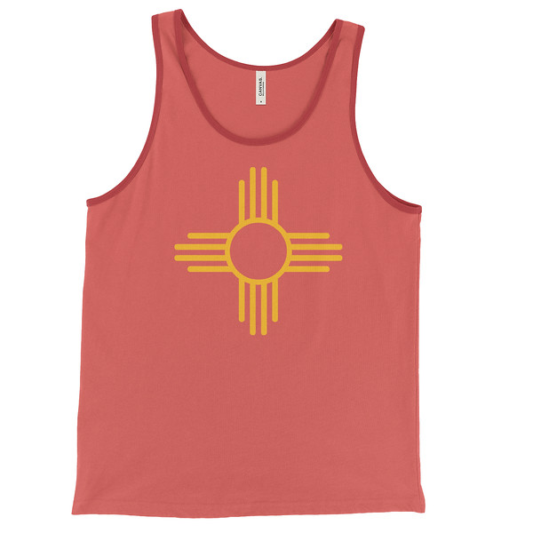 Zia Sun Symbol - Tank Top - Men's - Red and Yellow.jpeg