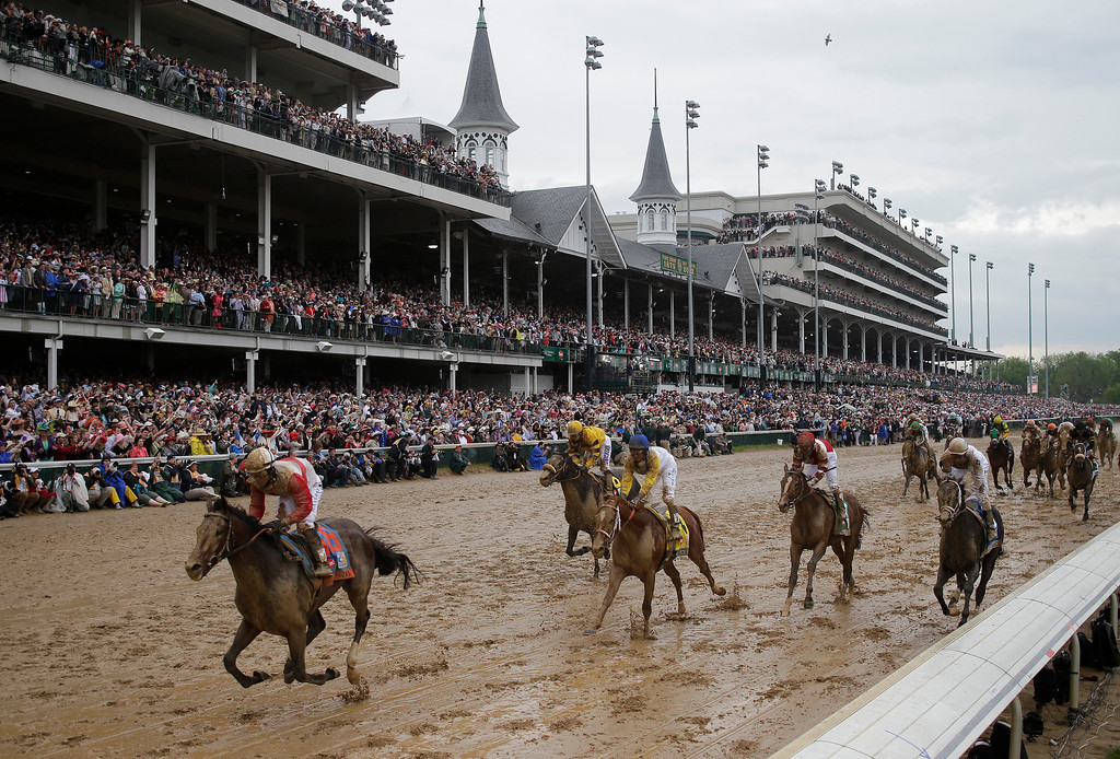 . Joel Rosario rides Orb to victory during the 139th Kentucky Derby at Churchill Downs Saturday, May 4, 2013, in Louisville, Ky. (AP Photo/Matt Slocum)
