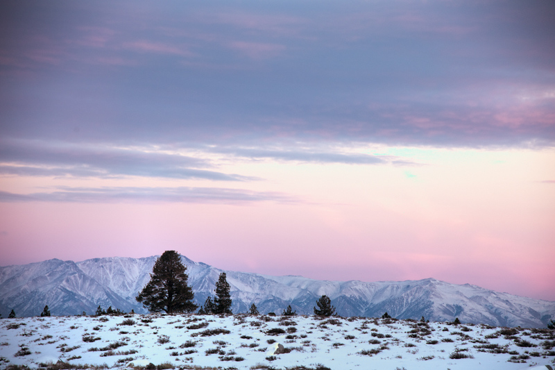 December 28 - Sunset over the White Mountains, Mammoth Lkes, California.jpg