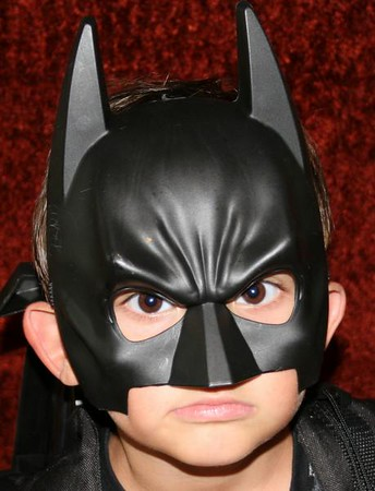 Miguel in his batman outfit