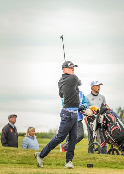 Ólafur Björn Loftsson, GKG, á 14. teig.  Mynd/seth@golf.is