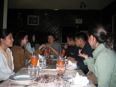 Rita's B-day Dinner @ Thai House 3-15-2003