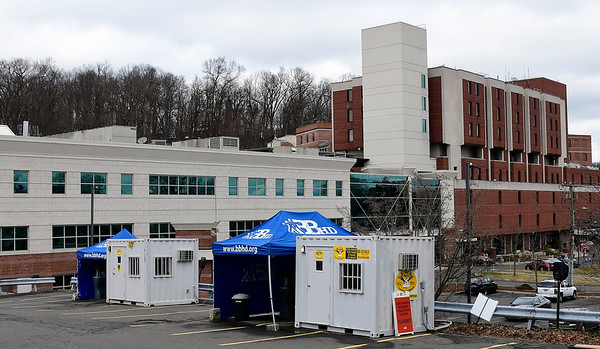 3/17/2020 Mike Orazzi | StaffrBristol Hospital's outdoor Coronavirus testing area.