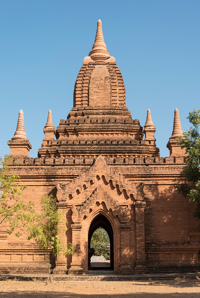 Pagoda on the central plain of Bagan, Burma - Myanmar