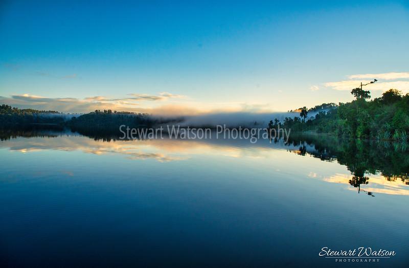 Lake Ianthe  reflections at sunrise