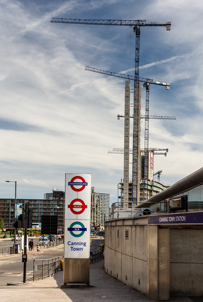 Construction in Canning Town