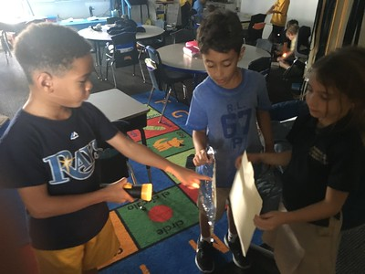 Science experiment with Light Energy