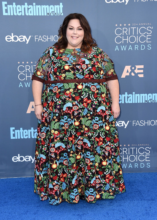 . Chrissy Metz arrives at the 22nd annual Critics\' Choice Awards at the Barker Hangar on Sunday, Dec. 11, 2016, in Santa Monica, Calif. (Photo by Jordan Strauss/Invision/AP)