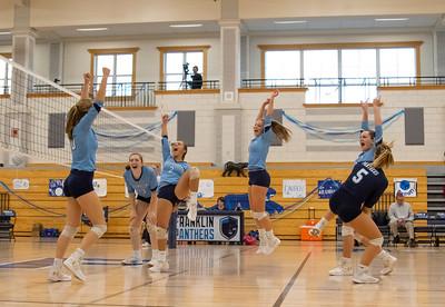 Varsity Volleyball Senior Night vs Attleboro 10/24