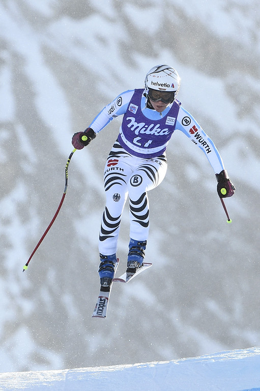 . Viktoria Rebensburg of Germany takes 2nd place during the Audi FIS Alpine Ski World Cup Women\'s Downhill on December 20, 2014 in Val d\'Isere, France. (Photo by Alain Grosclaude/Agence Zoom/Getty Images)