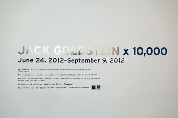 Jack Goldstein Exhibition