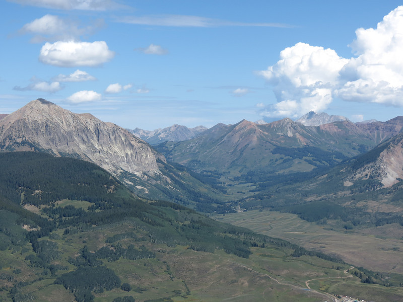 The town of Gothic is up that valley.  See the next pic zoomed in.